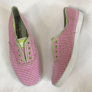 Keds Gingham Champion Slip-Ons Sneakers Pink 7